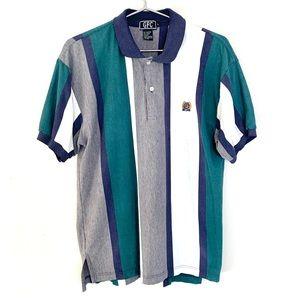 🔥GFC vintage men's color block Polo Shirt 90's L